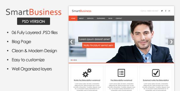 SmartBusiness - Business PSD Template