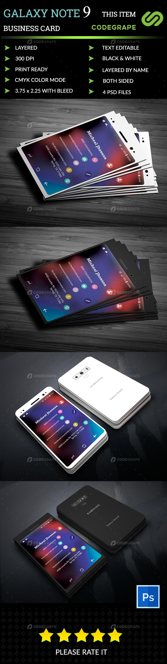 Galaxy Note9 Business Card