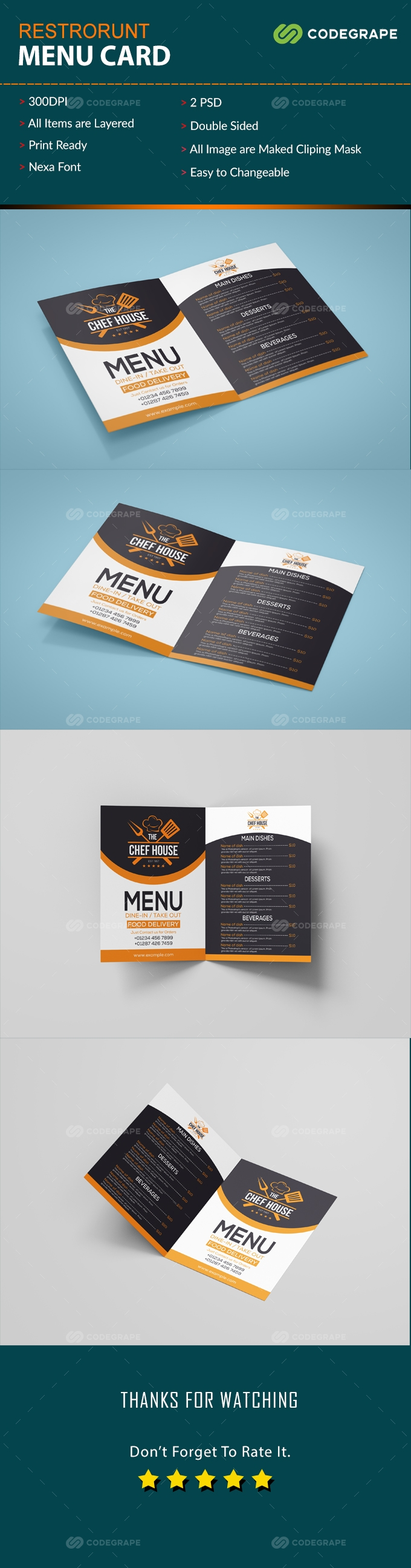 Restrorent Menu Card