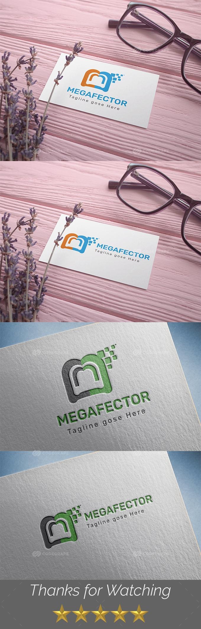 Megafector m Letter Logo Templates