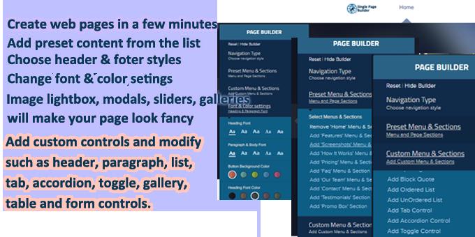 Single Page Builder & Multipurpose Template Creator