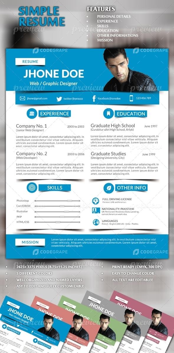 Modern Resume / CV
