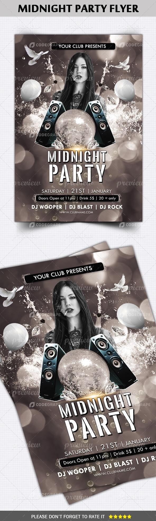 Midnight Party Flyer Template