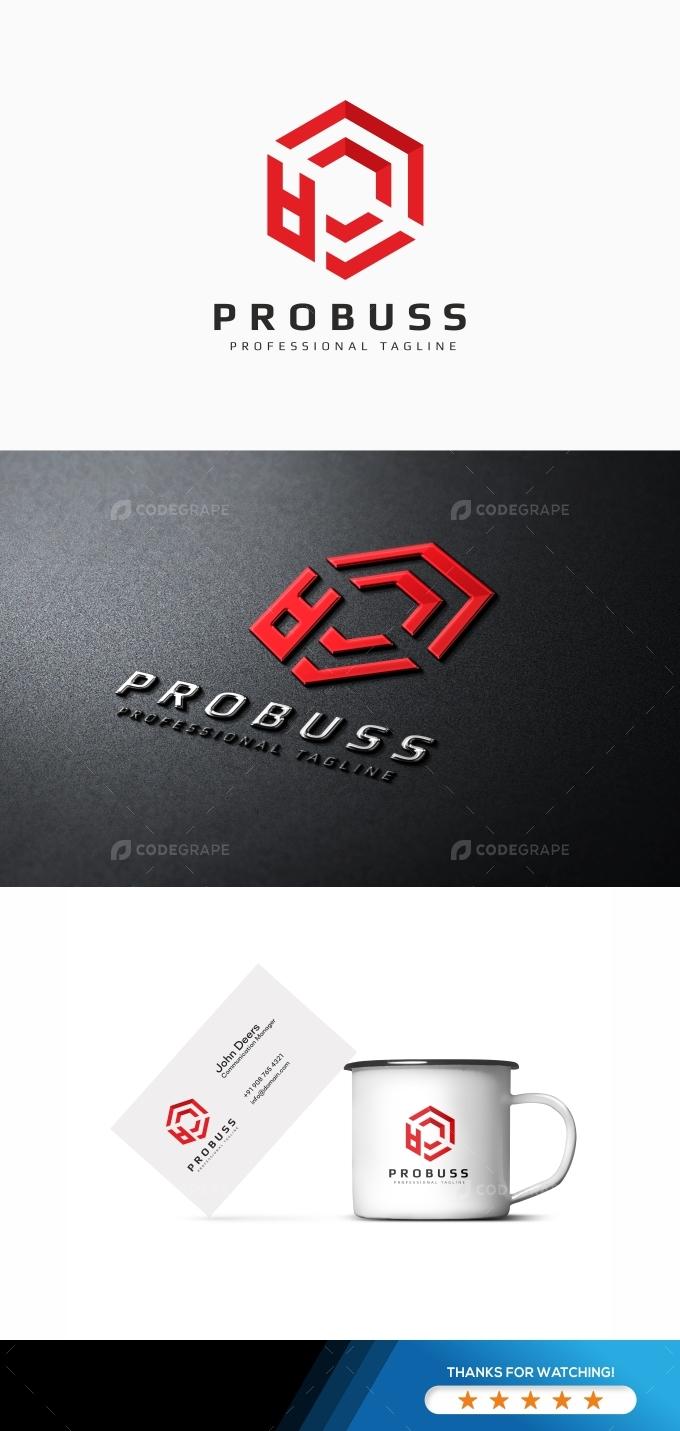 Probuss P Letter Logo