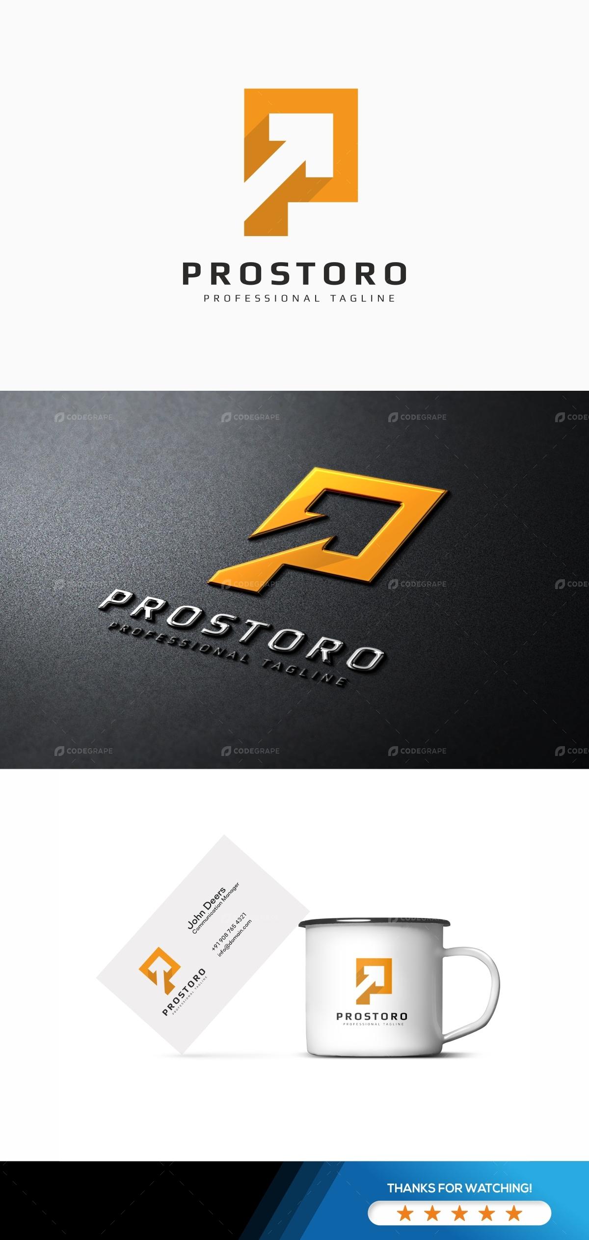 P Letter - Prostoro Logo