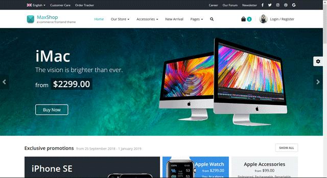 MaxShop - E-Commerce Template