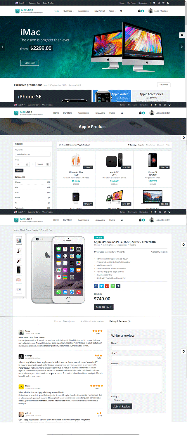 MaxShop - E-Commerce Template