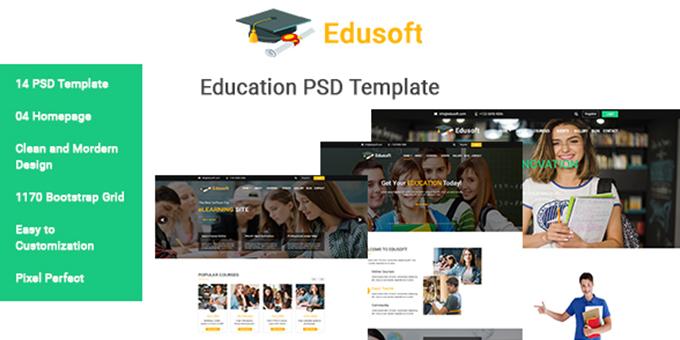 Edusoft Education PSD Template