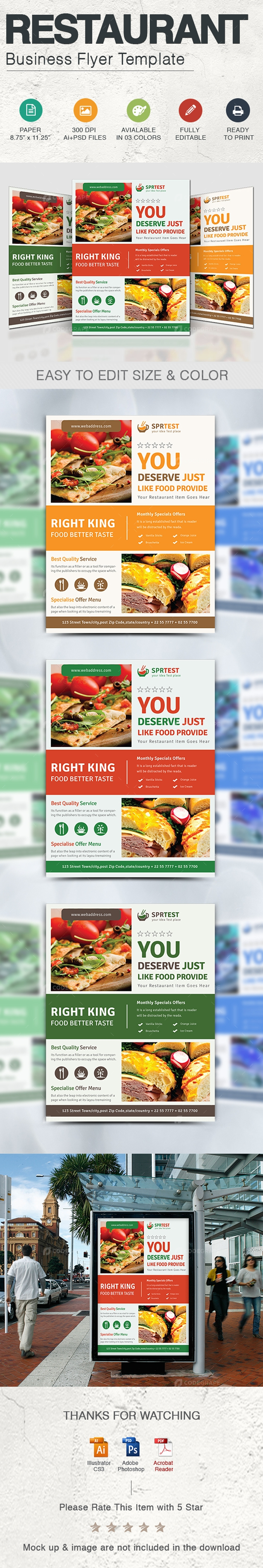 Restaurant Business Flyer