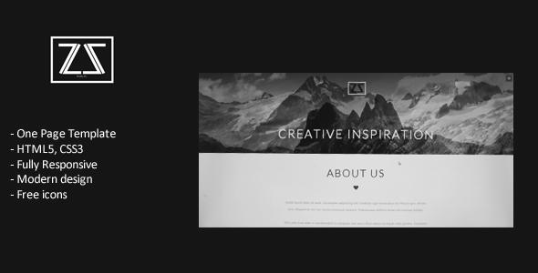 ZA. Studio - Responsive One Page Template