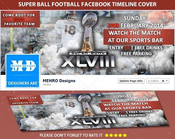 Super Ball Football Facebook Timeline Cover