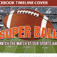 Super Ball Football Facebook Timeline Cover 2