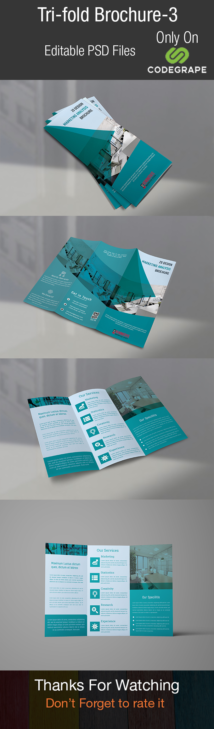 Corporate Trifold Brochure Template V3
