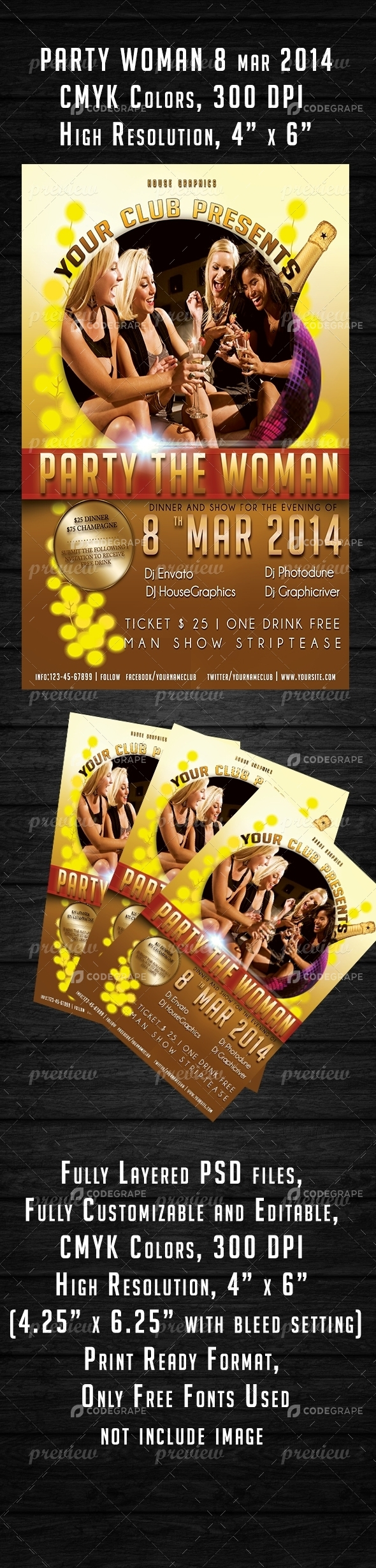 Party Woman Flyer