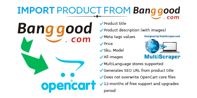 Import Product From Banggood