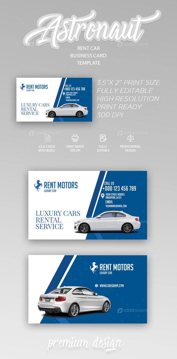 Rent A Car Business Card Templates