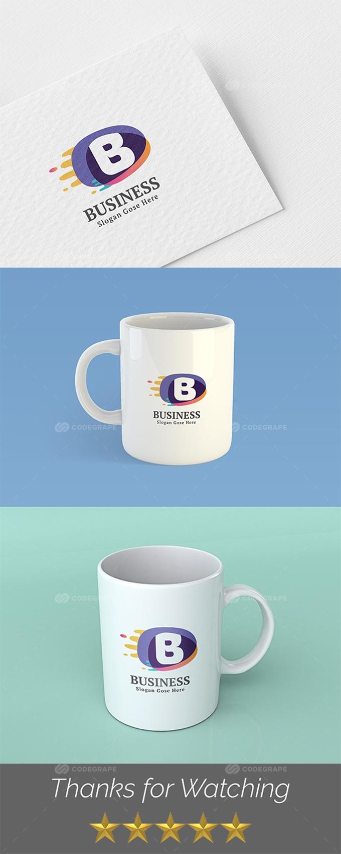 Business B Logo Template