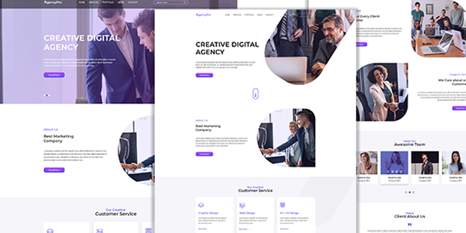 AgencyPro PSD Template