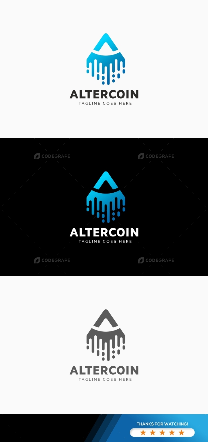 Altercoin - A Letter Logo