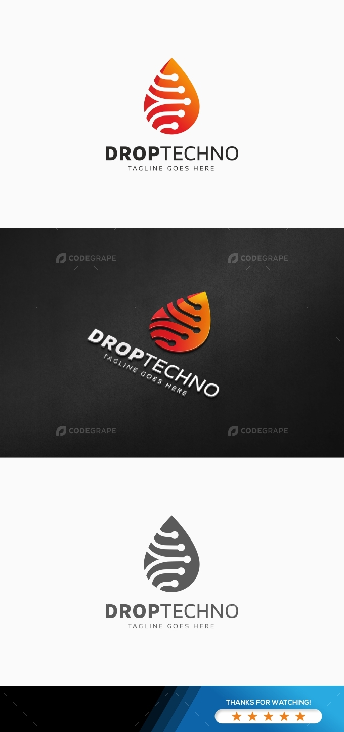 Drop Techno Logo