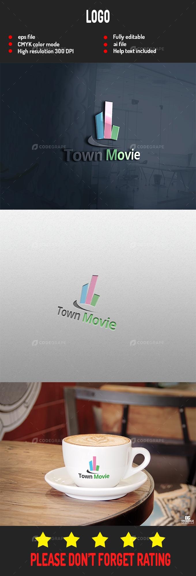Town Movie Logo
