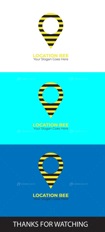 Location Bee Icon Illustration