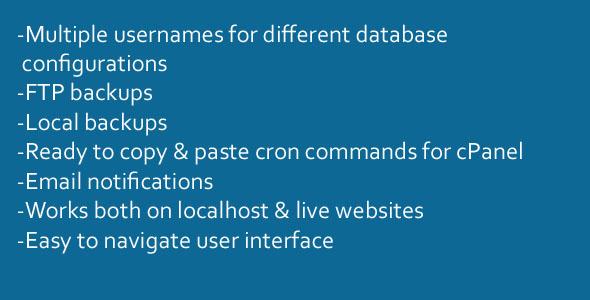 MySQL Web Backup