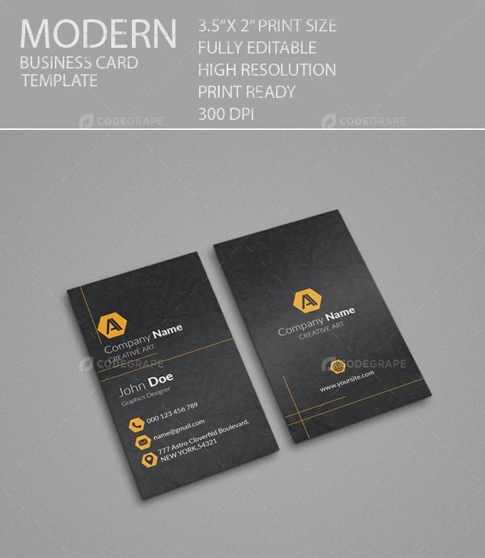 Vertical Modern Card