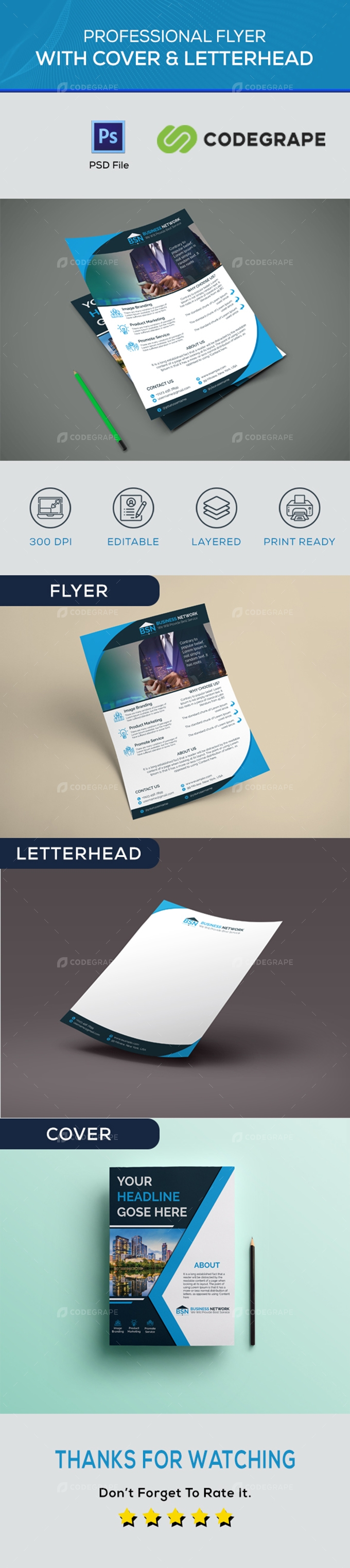 Corporate Flyer and Stationary