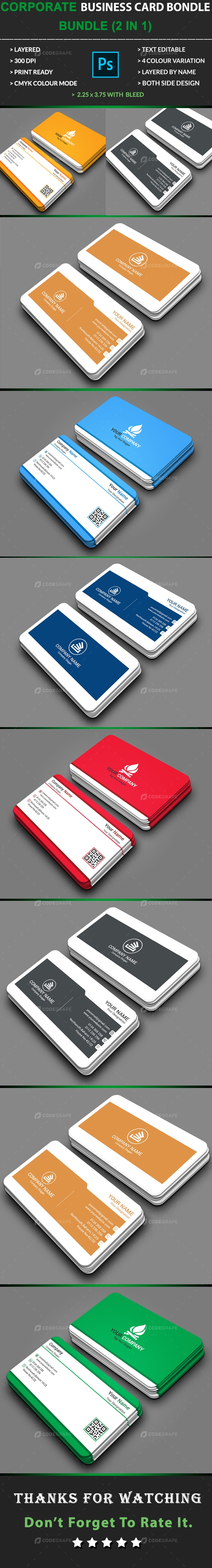 Corporate Business Card Bundle (2 in 1)