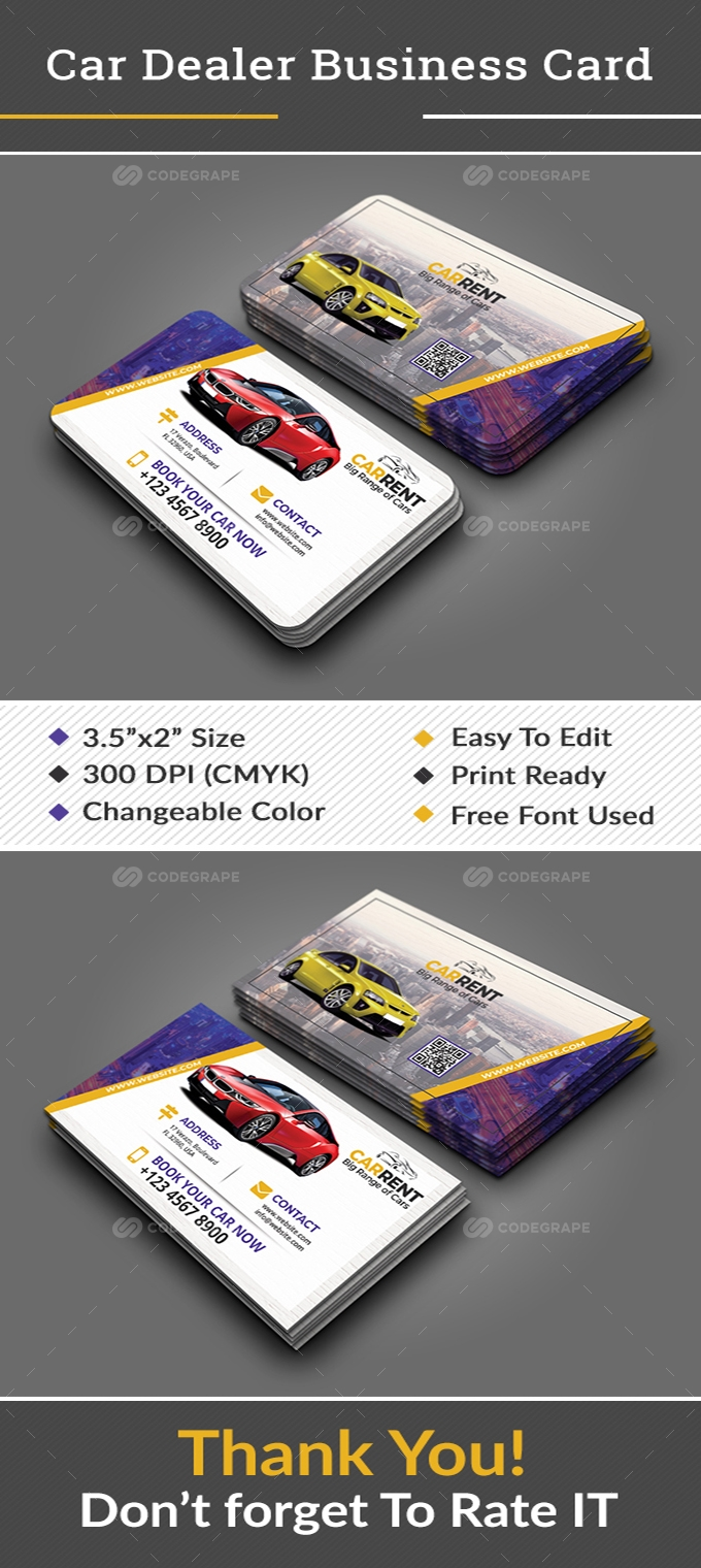 Car Dealer Business Card