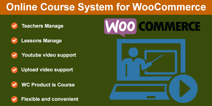 Selling Course Online for WooCommerce