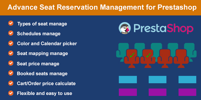 Seat Reservation Booking for Prestashop