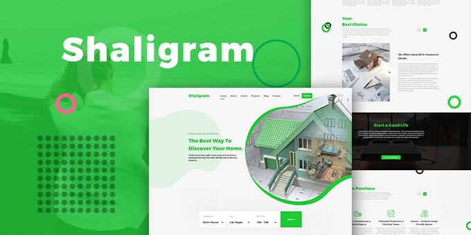 Shaligram - Real Estate PSD Template