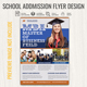 School Admission Flyer Template
