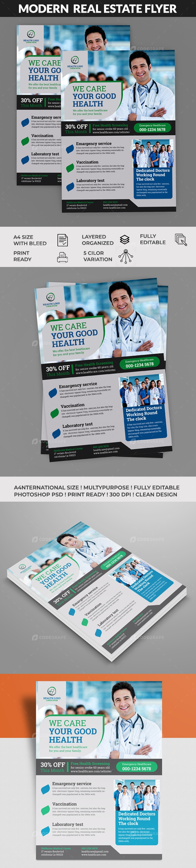Health Care Flyer Templates