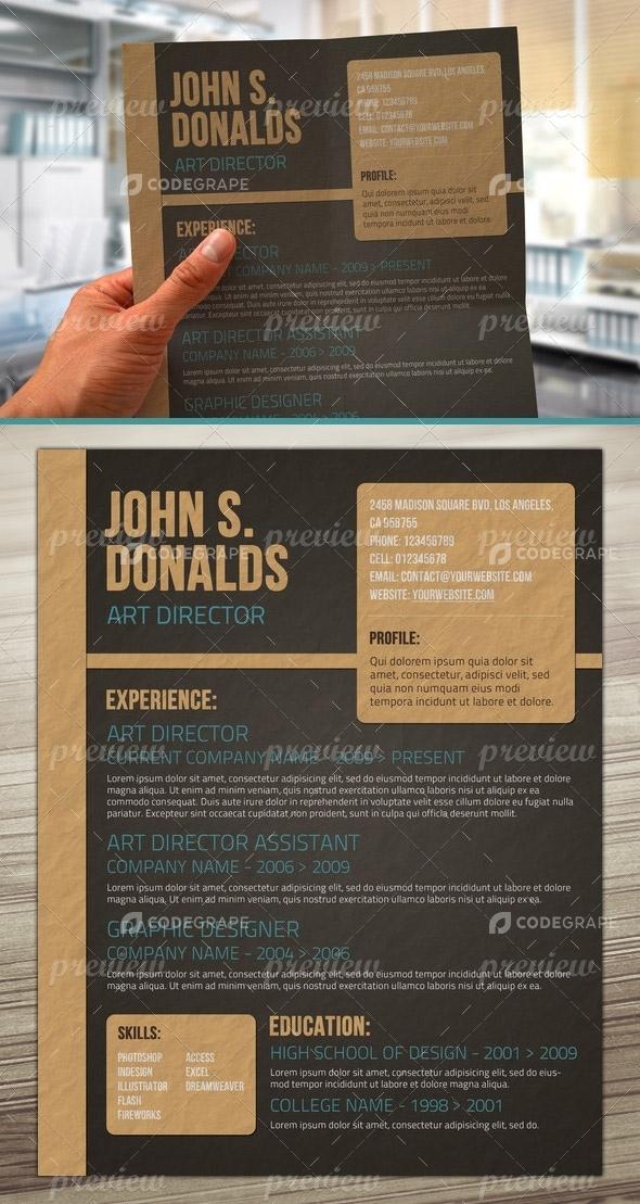 Craft Paper Resume Design