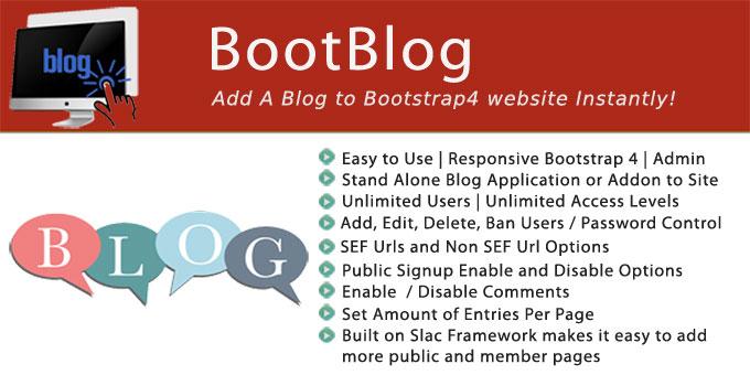 BootBlog - Standalone Bootstrap Blog