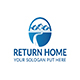 Real Estate Return Home Logo Template