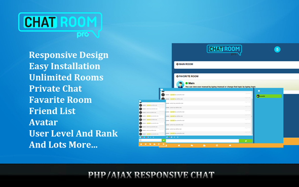Chat Room Pro - Responsive PHP/AJAX Chat
