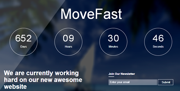 MoveFast CountDown - HTML5 Responsive Template