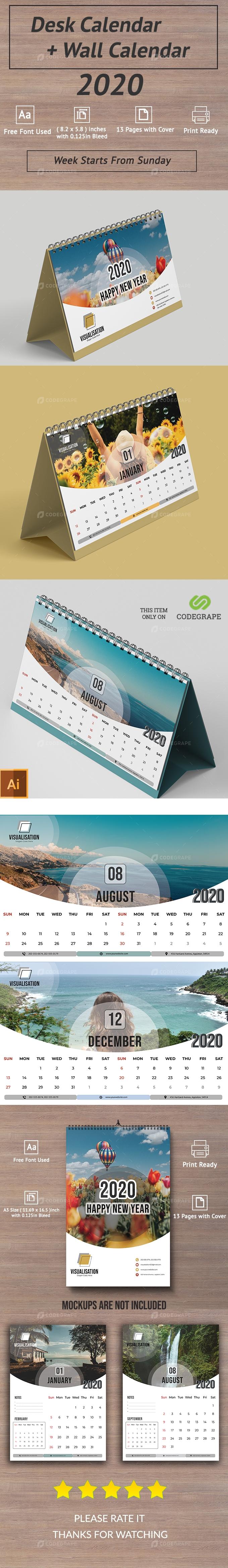 Wall Calendar + Desk Calendar (Exclusive Package)