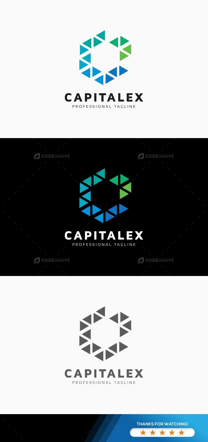 Capitalex C Letter Hexagon Logo