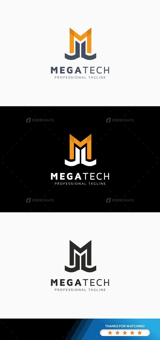 Megatech M Letter Logo