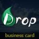 Drop Theme Business Card