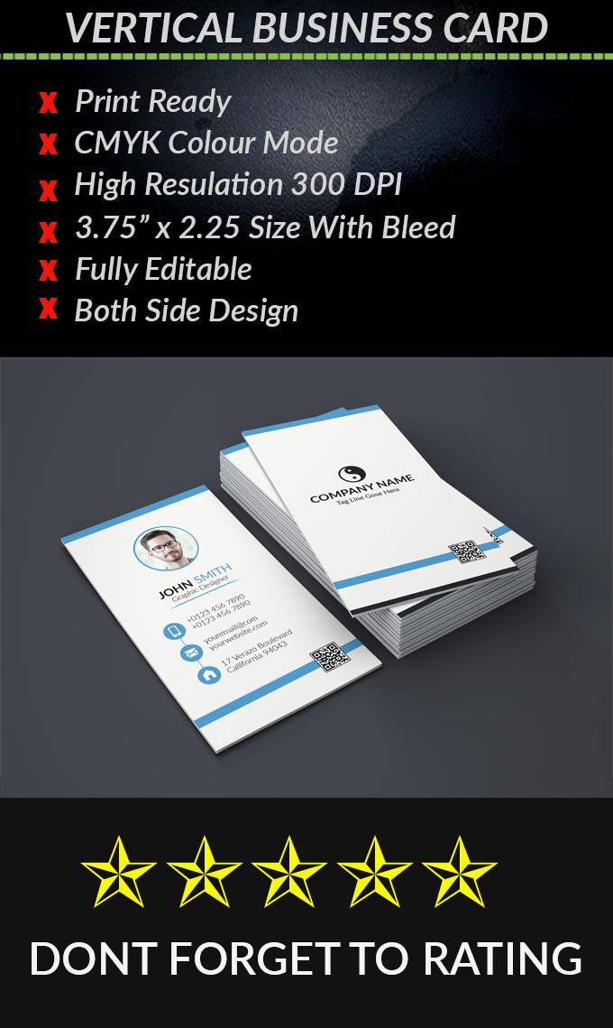 Vertical Business Card