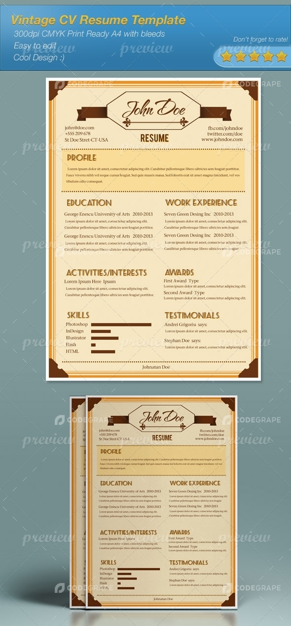 Vintage Cv Resume Template  Print  Codegrape. Resume Operation. What Kind Of Paper To Print Resume On. Cna Resume Description. Images Of Resumes. Executive Summary Resume Samples. Resume Sales Engineer. Resume Examples For Receptionist Job. Resume Objective Examples For Bank Teller