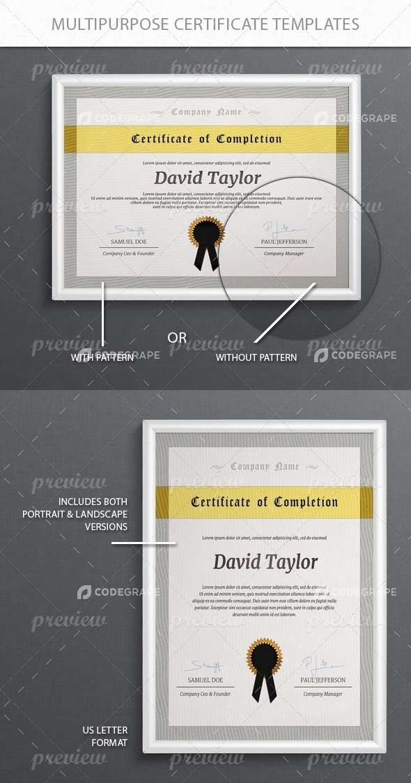 Multi-Purpose Certificate Templates