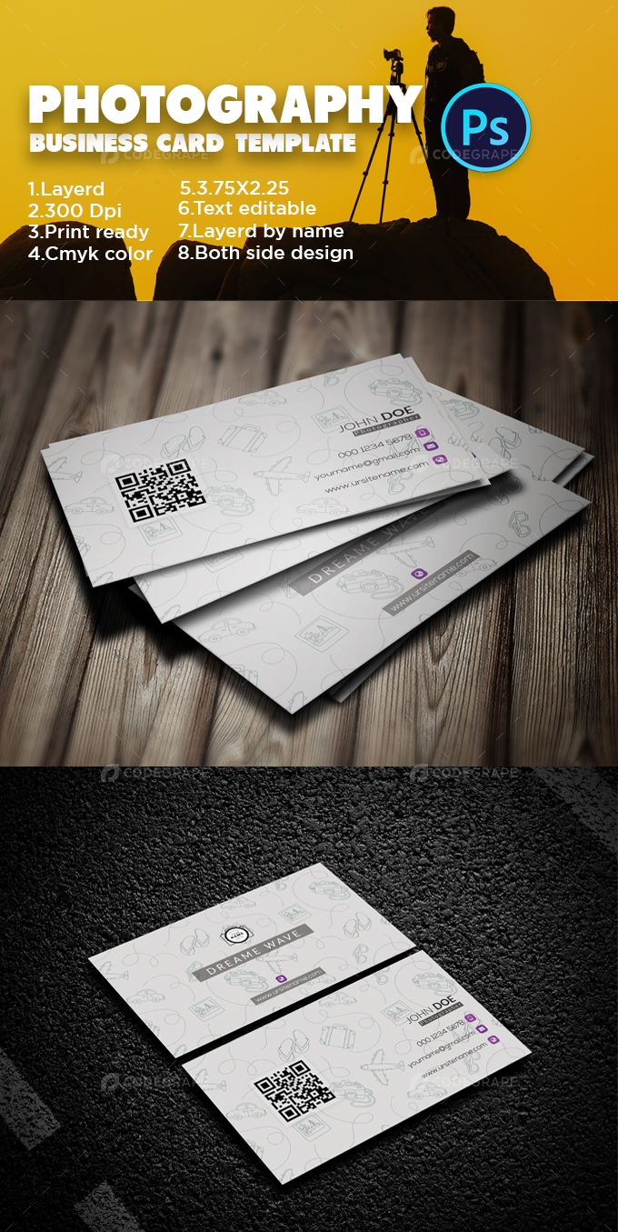 Photography Modern Business Card