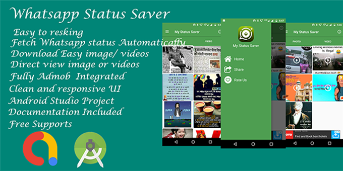 Whatsapp Status Saver - Android Source Code